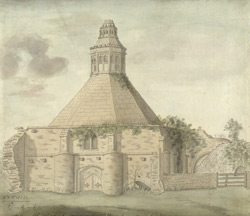 View of the abbot's kitchen, Glastonbury, Somersetshire